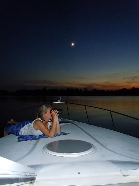 On-deck under moonlight