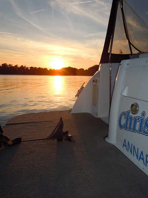 Sunset on the Chester