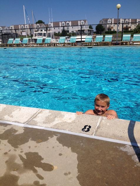 Swimming all day at the pool