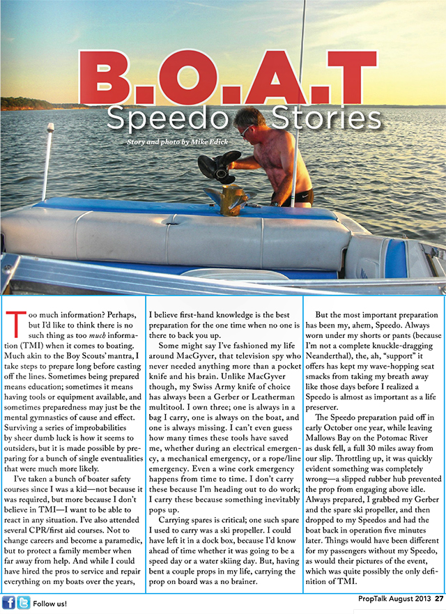 Aug2013 Speedo Stories Boatblog The Christina Rose