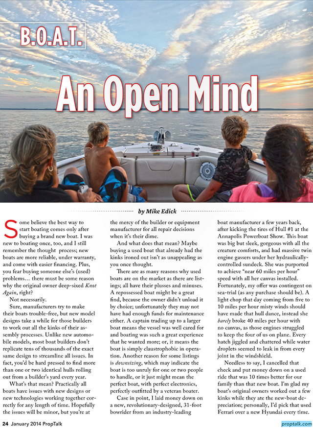 Jan 2014: An open mind | boatblog... the Christina Rose