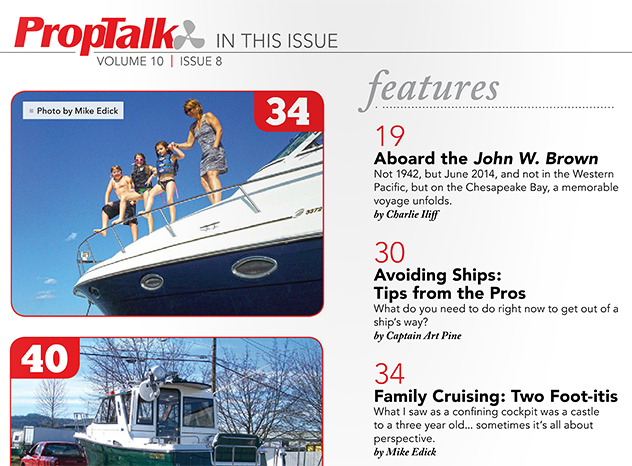 Inside the PropTalk cover, August 2014