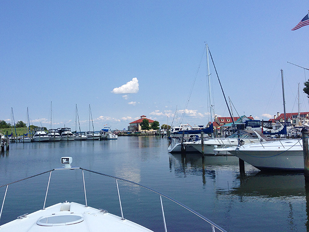On the way to the marina for fuel, today was near-perfect weather, 30JUL14
