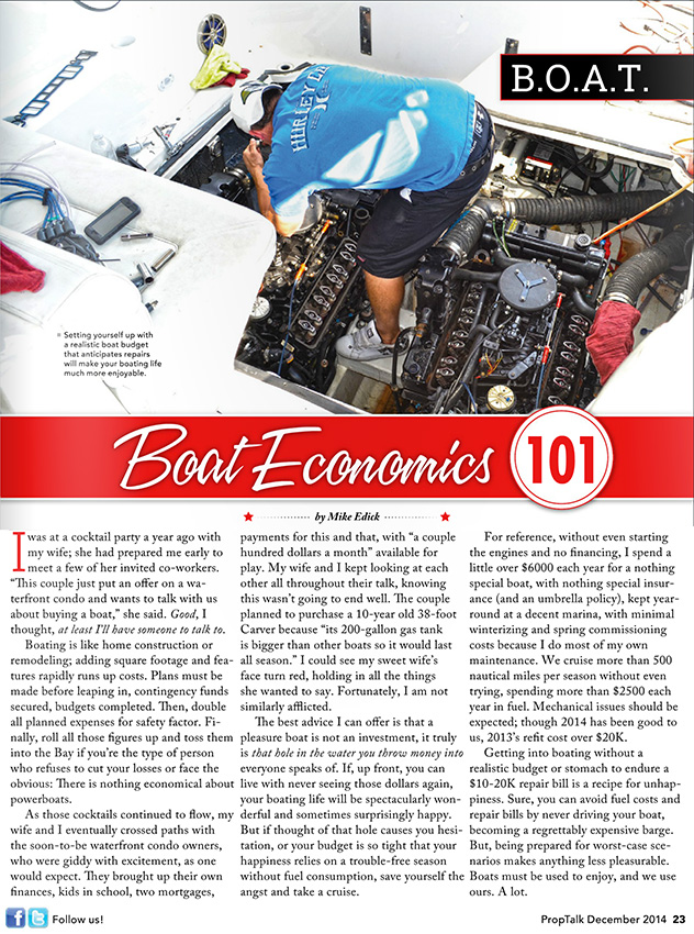 B.O.A.T. Boating Economics 101